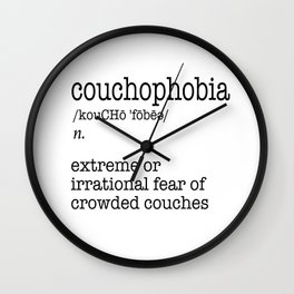 Couchophobia Wall Clock