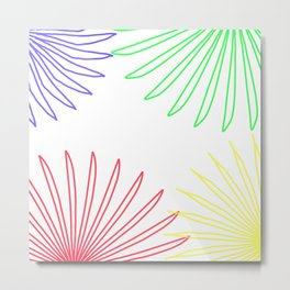 Floral Color Wheel Metal Print