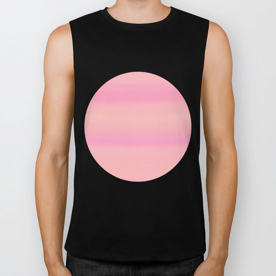 Soft pastel gradient pink tones Biker Tank