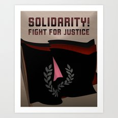 Solidarity in the Fight for Justice Art Print