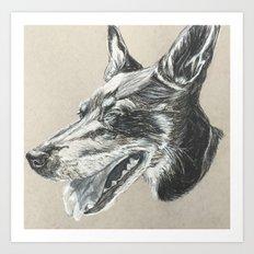 Min Pin Art Print