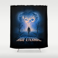 mad max Shower Curtains featuring Mad Max: Fury Road by Alyn Spiller