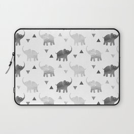 Elephants and Triangles - Silver Laptop Sleeve