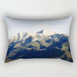 Ojai Valley With Snow Rectangular Pillow