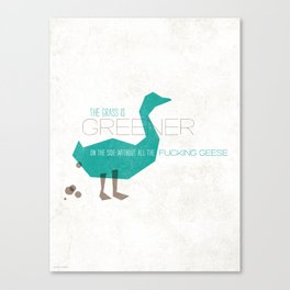 "Always Remember: ""Geese"" Canvas Print"