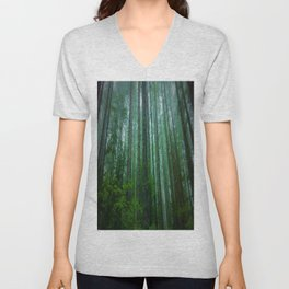 Misty Mountain Forest Unisex V-Neck