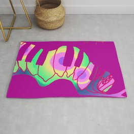 Transformation awaits, colorful caterpillar Rug