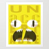 lemongrab Art Prints featuring Lemongrab Typography by Aaron Bowersock