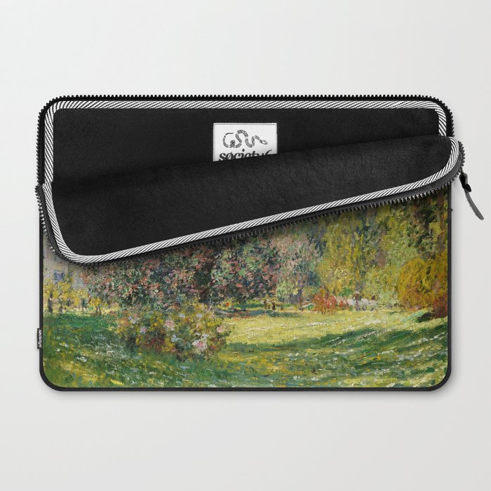 The Parc Monceau by Claude Monet Laptop Sleeve
