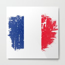 Distressed Martinique Flag Graffiti Metal Print