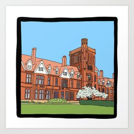 Cambridge struggles: Girton College Art Print