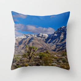 Desert Snow 0309, Southwestern_USA Throw Pillow