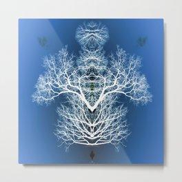 Silhouetted tree pattern Metal Print