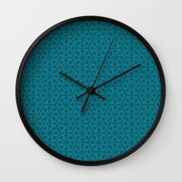 The hexagon sun – blue Wall Clock