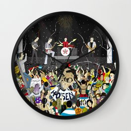 Rock band in concert Wall Clock