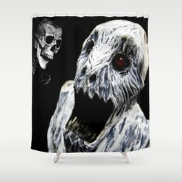 Ghoul Meets Skull By Annie Zeno  Shower Curtain