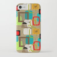 mid century modern iPhone & iPod Cases featuring Mid-Century Modern Inspired Abstract by Kippygirl
