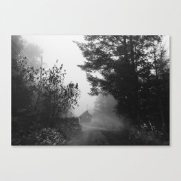 Ghostly Cabin Canvas Print