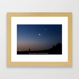 Southeast sky before sunset. Framed Art Print