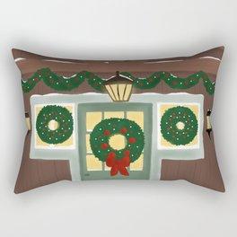 Rustic Christmas Night Rectangular Pillow