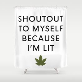 I am Lit Shower Curtain