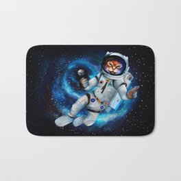 Space cat iPhone 4 5 6 7, ipod, ipad, pillow case and tshirt Bath Mat