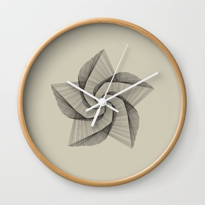 Dark Star Lines Wall Clock