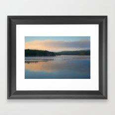 Sunrise on the Reservoir Framed Art Print