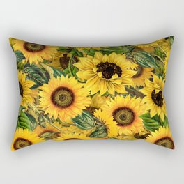 Vintage & Shabby Chic - Noon Sunflowers Garden Rectangular Pillow