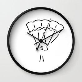 parachute jumper paraglider Wall Clock