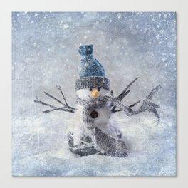 Cute snowman frozen freeze Canvas Print