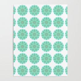 Collage of green madalas Poster