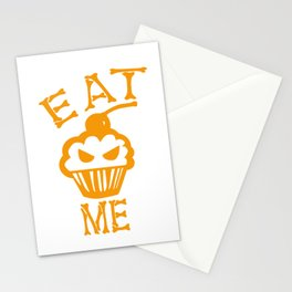 Eat me yellow version Stationery Cards