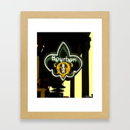 New Orleans Bourbon Street Bar Framed Art Print