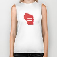 wisconsin Biker Tanks featuring Wisconsin Love by Tank Top Sunday