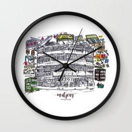Mahjong in Hong Kong Wall Clock