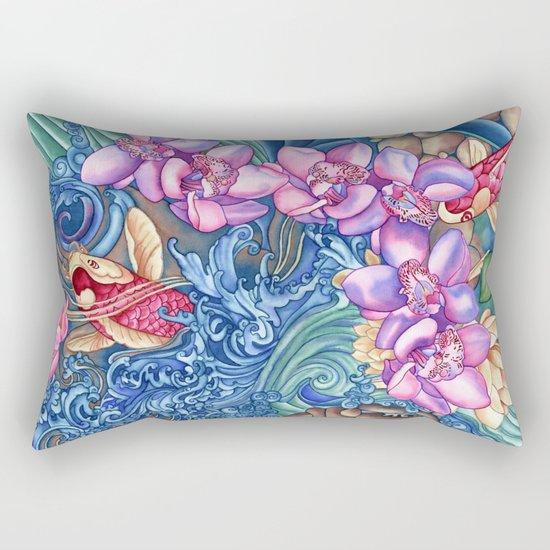 Orchid Splash Rectangular Pillow
