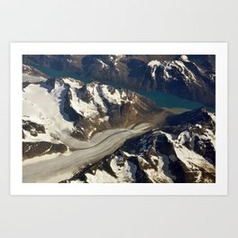 Glaciers. Art Print