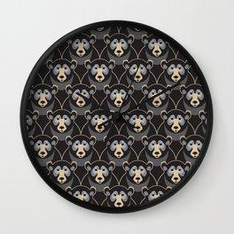 Little Black Bears Wall Clock