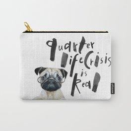 Quarter life crisis pug Carry-All Pouch