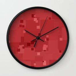 Cranberry Square Pixel Color Accent Wall Clock