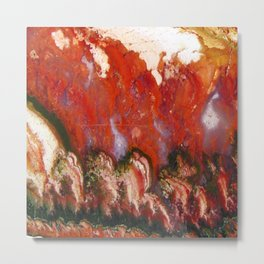 Christmas Tree Plume Agate Metal Print