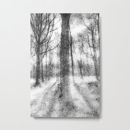Forest Of Ghosts And Snow Metal Print
