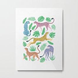 The Stare: Pastel Rainbow Cheetah Edition Metal Print