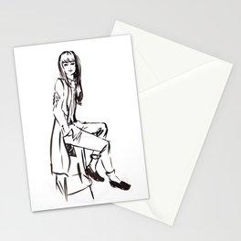 'Coat' Fashion Illustration Stationery Cards