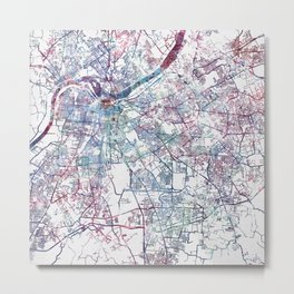 Louisville map (without name) Metal Print