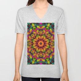 Floral Fractal Art G543 Unisex V-Neck