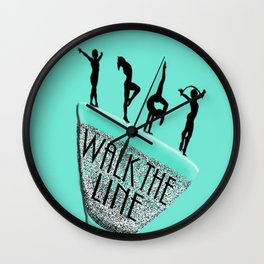Walk The Line-Dare to Be Daring Wall Clock