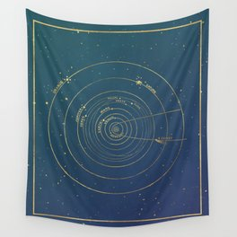 Golden System Wall Tapestry