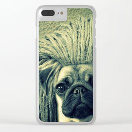 Do You Think I Need a Rasta Hat? Clear iPhone Case